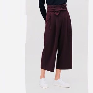 COS paper bag trousers high waisted crepe